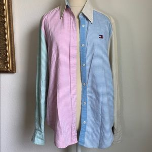 Tommy Hilifiger vintage multicolored button down